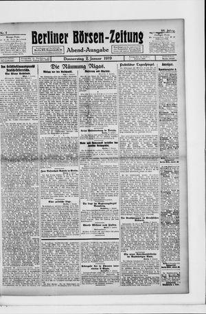 Berliner Börsen-Zeitung vom 02.01.1919
