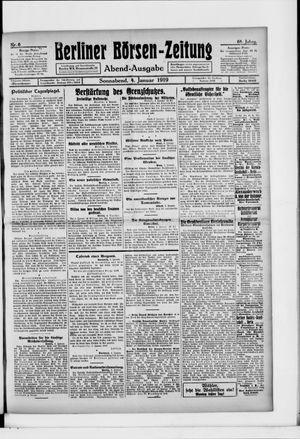 Berliner Börsen-Zeitung vom 04.01.1919
