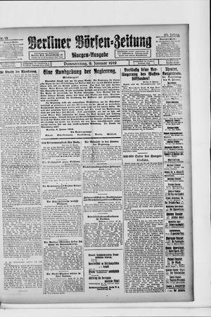 Berliner Börsen-Zeitung vom 09.01.1919