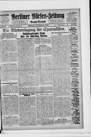 Berliner Börsen-Zeitung vom 13.01.1919