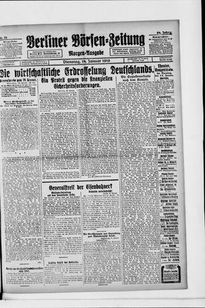 Berliner Börsen-Zeitung vom 14.01.1919