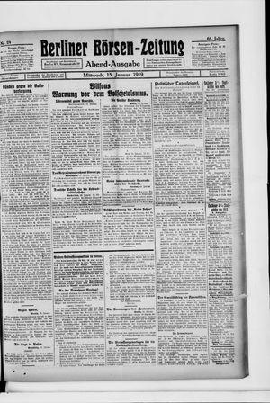 Berliner Börsen-Zeitung vom 15.01.1919