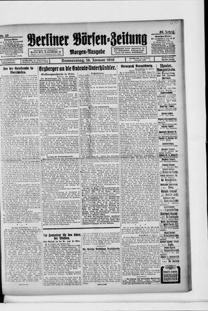 Berliner Börsen-Zeitung vom 16.01.1919