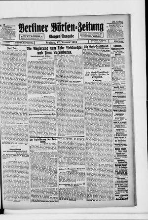 Berliner Börsen-Zeitung vom 17.01.1919