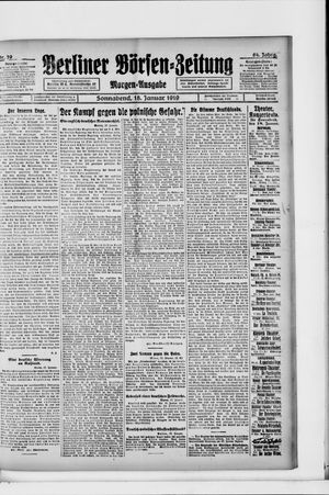 Berliner Börsen-Zeitung vom 18.01.1919