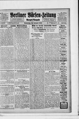 Berliner Börsen-Zeitung on Jan 19, 1919