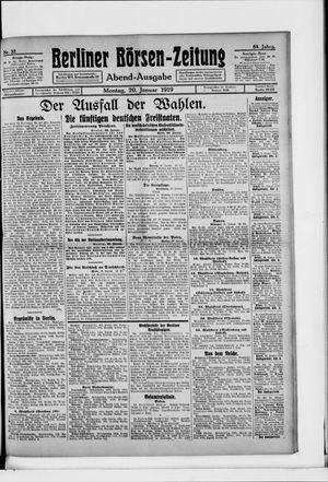 Berliner Börsen-Zeitung vom 20.01.1919