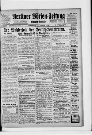 Berliner Börsen-Zeitung vom 21.01.1919