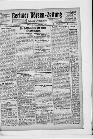 Berliner Börsen-Zeitung vom 27.01.1919