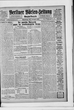 Berliner Börsen-Zeitung vom 28.01.1919