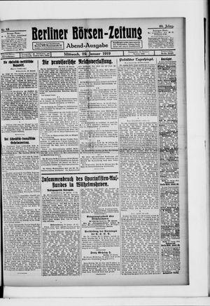 Berliner Börsen-Zeitung vom 29.01.1919