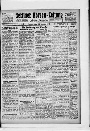 Berliner Börsen-Zeitung vom 30.01.1919