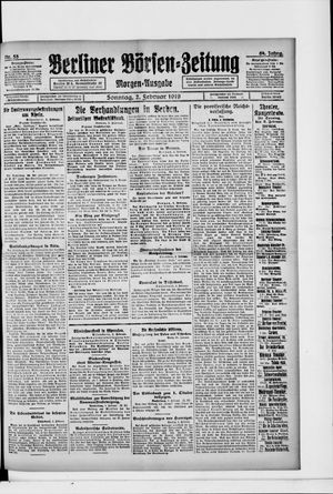 Berliner Börsen-Zeitung vom 02.02.1919