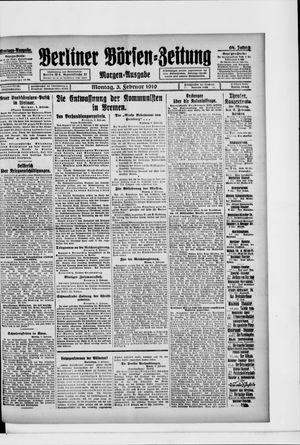 Berliner Börsen-Zeitung vom 03.02.1919