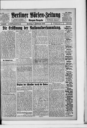 Berliner Börsen-Zeitung vom 07.02.1919