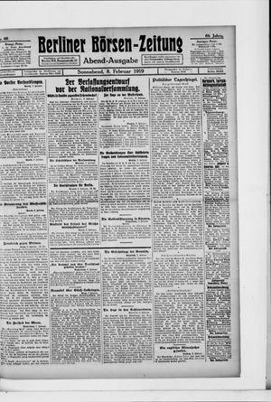 Berliner Börsen-Zeitung vom 08.02.1919