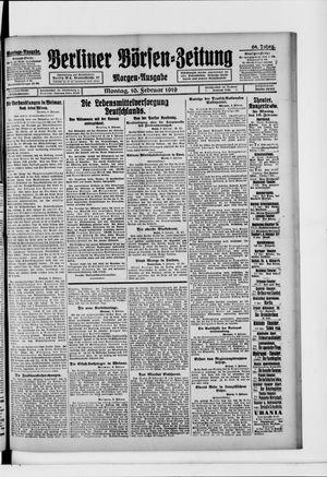 Berliner Börsen-Zeitung vom 10.02.1919