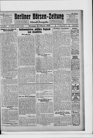 Berliner Börsen-Zeitung vom 11.02.1919
