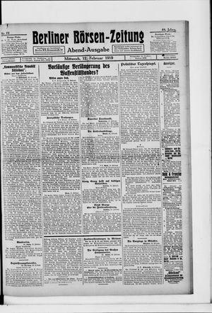 Berliner Börsen-Zeitung vom 12.02.1919