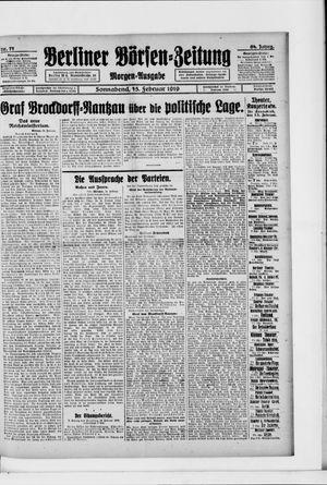 Berliner Börsen-Zeitung vom 15.02.1919
