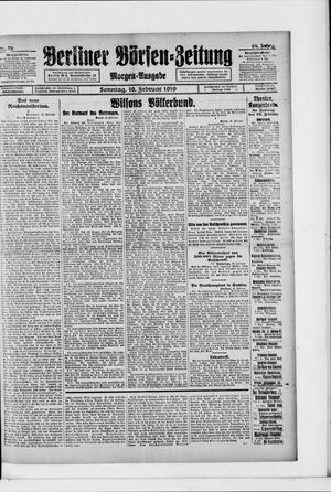 Berliner Börsen-Zeitung vom 16.02.1919