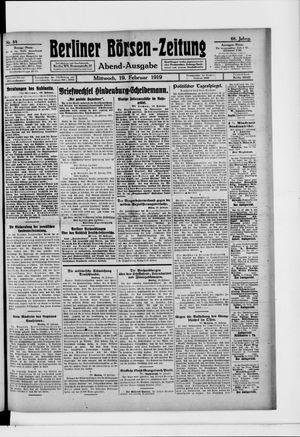 Berliner Börsen-Zeitung vom 19.02.1919