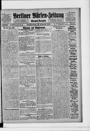 Berliner Börsen-Zeitung vom 20.02.1919