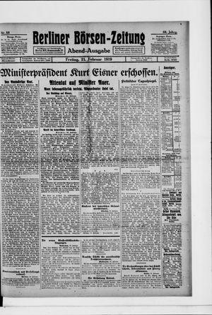 Berliner Börsen-Zeitung vom 21.02.1919