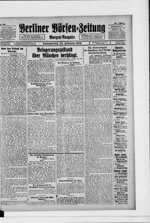 Berliner Börsen-Zeitung vom 22.02.1919