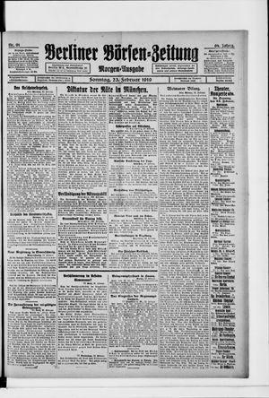 Berliner Börsen-Zeitung vom 23.02.1919
