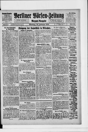 Berliner Börsen-Zeitung vom 24.02.1919