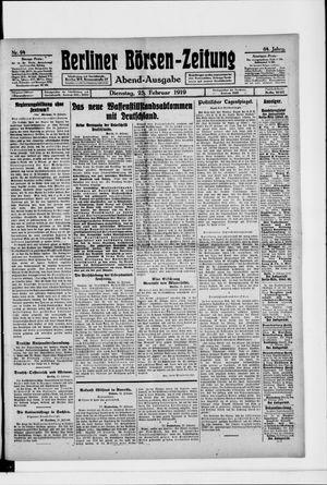 Berliner Börsen-Zeitung vom 25.02.1919