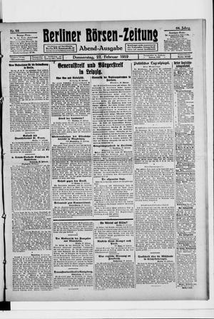 Berliner Börsen-Zeitung vom 27.02.1919