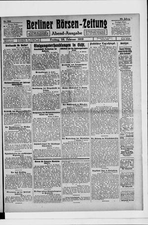 Berliner Börsen-Zeitung vom 28.02.1919