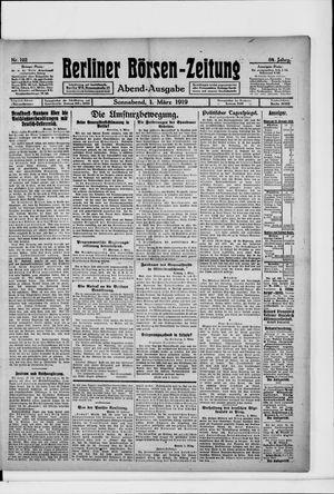 Berliner Börsen-Zeitung vom 01.03.1919