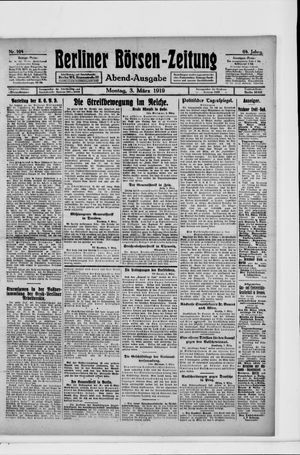 Berliner Börsen-Zeitung vom 03.03.1919