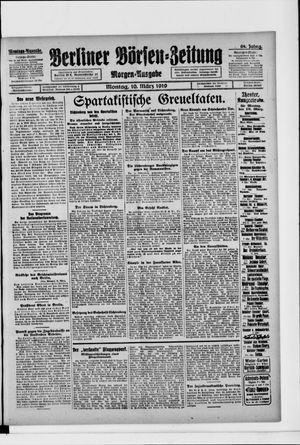 Berliner Börsen-Zeitung vom 10.03.1919