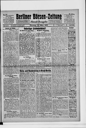 Berliner Börsen-Zeitung vom 11.03.1919