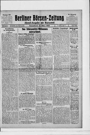 Berliner Börsen-Zeitung on Mar 15, 1919