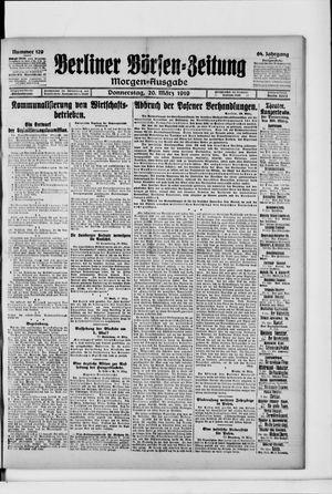 Berliner Börsen-Zeitung vom 20.03.1919