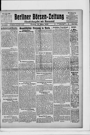 Berliner Börsen-Zeitung vom 21.03.1919