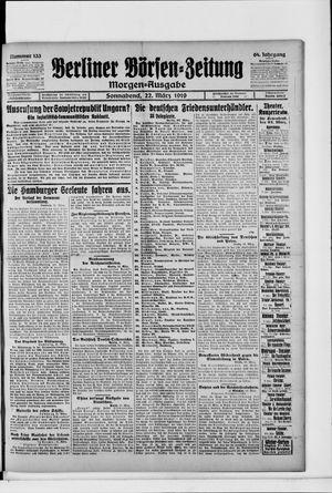 Berliner Börsen-Zeitung vom 22.03.1919