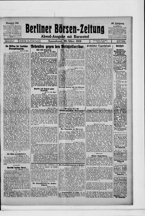 Berliner Börsen-Zeitung vom 29.03.1919