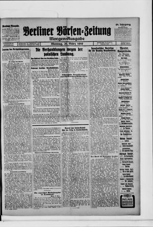 Berliner Börsen-Zeitung vom 31.03.1919