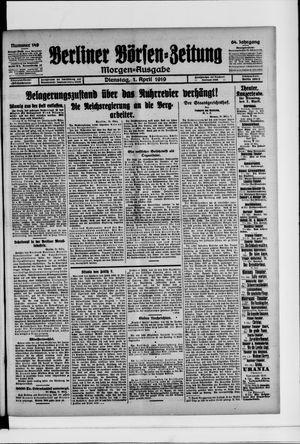 Berliner Börsen-Zeitung vom 01.04.1919