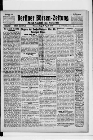 Berliner Börsen-Zeitung vom 03.04.1919