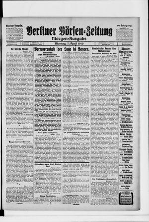 Berliner Börsen-Zeitung vom 07.04.1919