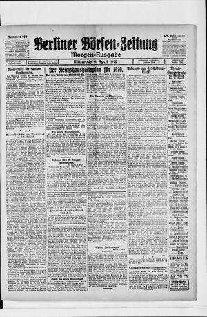 Berliner Börsen-Zeitung vom 09.04.1919