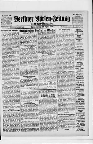 Berliner Börsen-Zeitung vom 10.04.1919