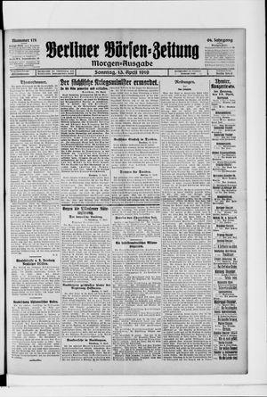 Berliner Börsen-Zeitung vom 13.04.1919